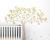 Fall Tree Wall Decal - Kids tree decal desing - Baby Nursery Wall Decor