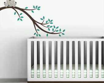 Kids wall decal baby koala bear tree branch wall sticker for nursery wall decor - Koala Branch II