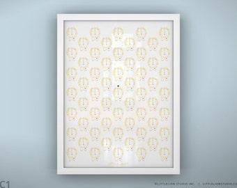 """Baby nursery lion pattern wall art print cute baby lion king wall art kids room - Unframed 11 3/4  x 15 3/4"""" - Lion Kingdom"""