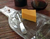 Large Wine Bottle Cheese Platter with Spreader