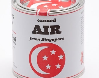 Original Canned Air From Singapore, gag souvenir, gift, memorabilia