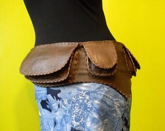 Burning man Leather Utility Belt - hip bag