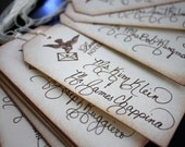 Custom Calligraphy Wedding or Party Invitations, Place cards Escort cards, favor tags and more...Featured in Etsy Finds