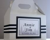 Wedding Welcome Bag/Basket - Partying Favor - Elegant New York  Skyline Themed Box