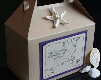 Wedding Welcome Bag/Basket - Partying Favor - Vintage Map