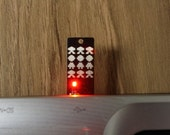 Space Invasion USB Circuit Board Magnet in Black- Lights Up
