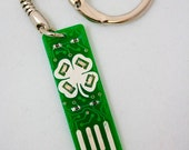Four Leaf Clover USB Circuit Board Keychain - LIGHTS UP