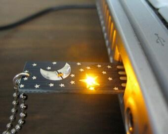 Stormy Stormy Night USB Circuit Board Pendant
