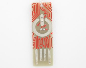 Circuit Board Magnet with Power Symbol - LIGHTS UP