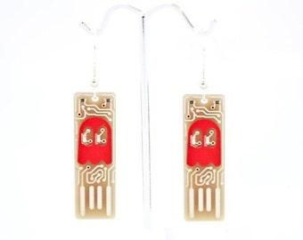Ghost USB Circuit Board Earrings