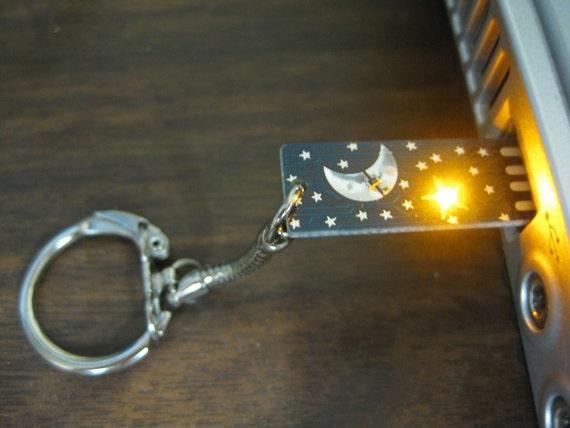 Stormy Stormy Night USB Circuit Board Keychain