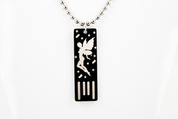 Fairy USB Circuit Board Necklace in Black (Ball Chain) - Lights Up