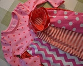 Sadie's Sweet Shoppe Red and Pink collage dress-Perfect for Valentine's Day
