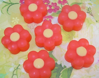 Scented Flower Glycerin Soap for Guests Decoration Favors Gifts, Set 6 Bars