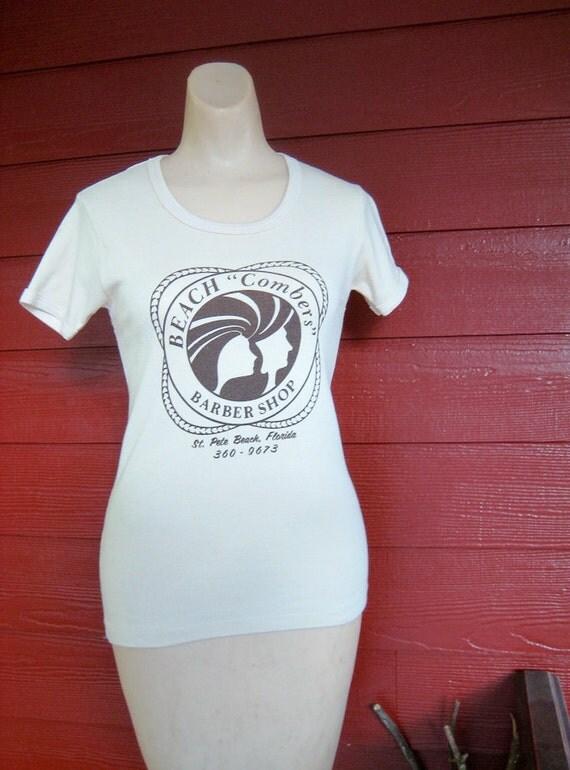 Vintage 80's 70's Women  T-Shirt  -  Size S/M