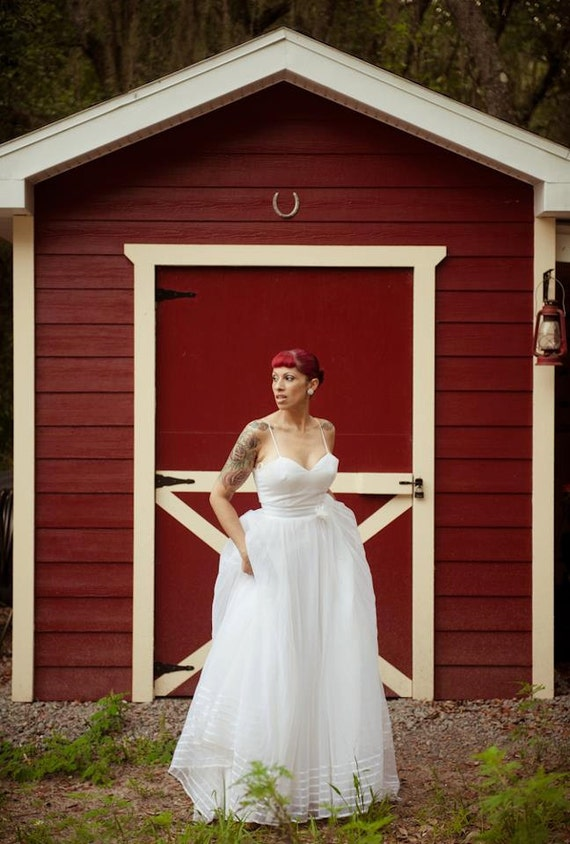 Vintage Wedding Dress 60s