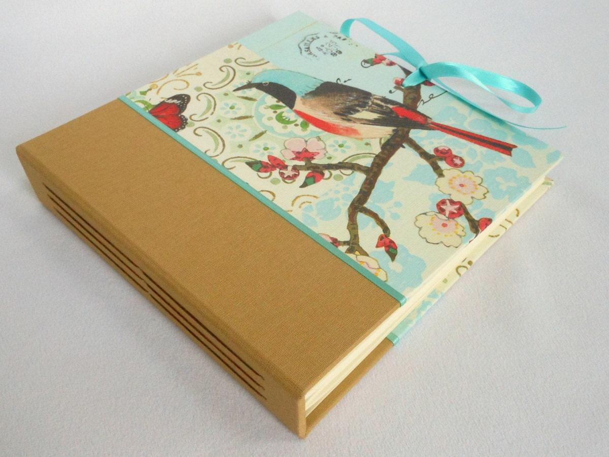 CLEARANCE 6x6 Square Photo Album Scrapbook with Ties by Scroll