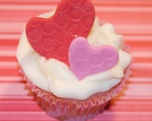 Fondant cupcake topper Valentine Heart
