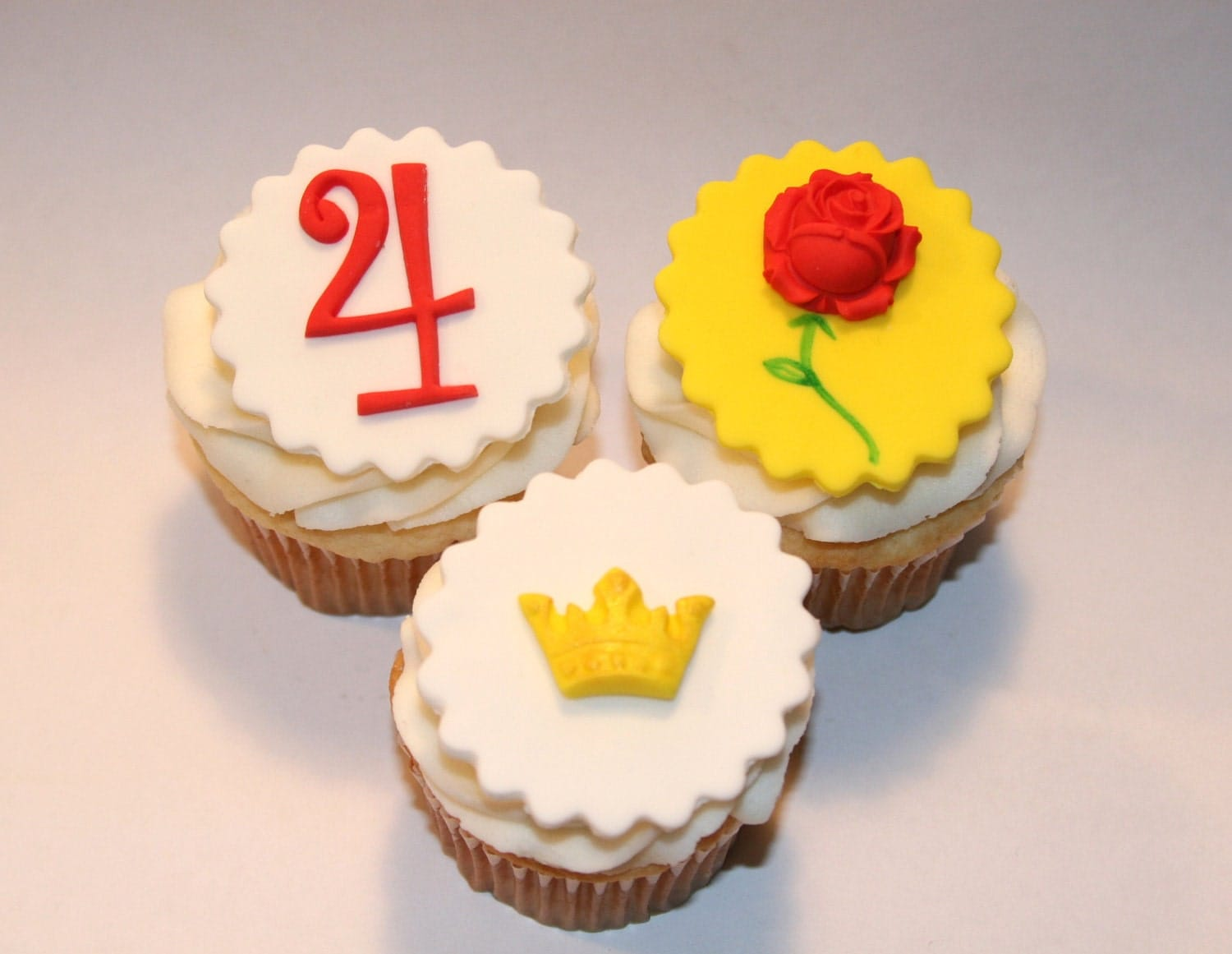 Decorating Ideas > Fondant Cupcake Toppers Rose Crown Princess ~ 082523_Fondant Cake Topper Ideas