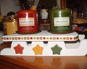 Autumn Wooden Candle Holder Sled