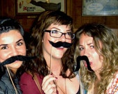 Party Mustaches - Party 3 Pack Black