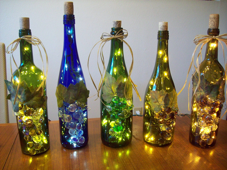 Chandeliers pendant lights for Lighted wine bottle craft