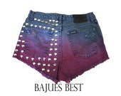 SALE- Awesome Dyed Harley Davidson Studded Shorts