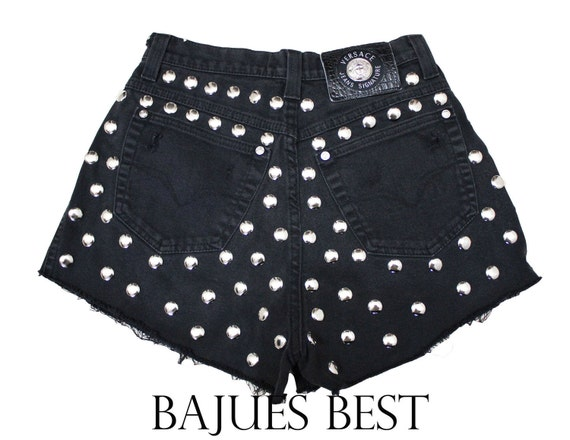 Crazy Cool Full Studded Black VERSACE Shorts