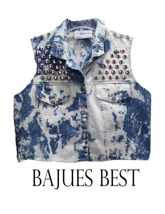 Super Cool Studded Bleached Vest
