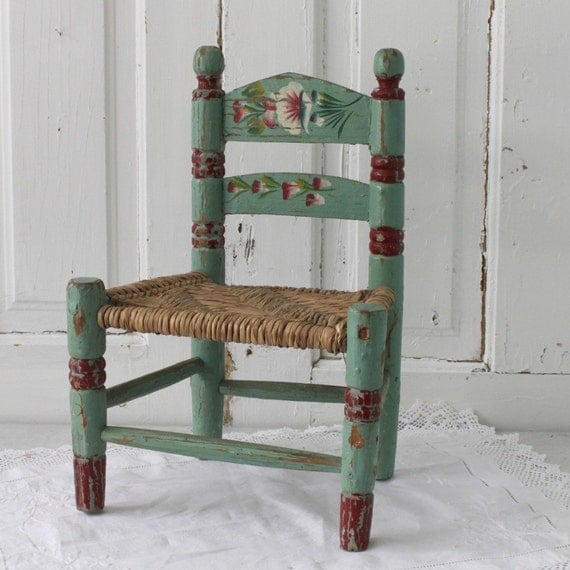 chippy painted childs chair