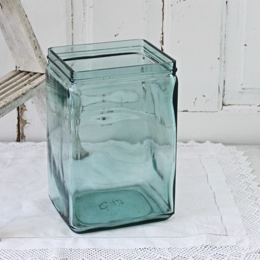 Rare Aqua Antique Battery Jar