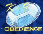 K-9 Obedience Embroidered Dog Bandana with Custom Options