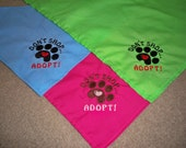 100 Dog Bandanas:  Don't Shop, Adopt with Pawprint....Perfect for Pet Adoptions or Animal Shelters or Animal Rescues
