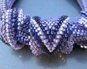 Bead Weaving Pattern: Peyote Tubular Rings, Chevron Pattern Beading Pattern