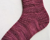 Knit Sock Pattern:  Twisted Mesh and Side Cable Knitted Sock Pattern