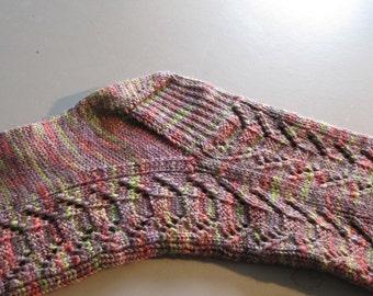 Knitted Sock Pattern:  Totem Pole Knitting Sock Pattern