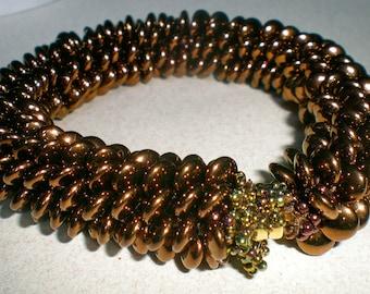 Bead Crochet Pattern:  Lentil Bracelet Crochet Pattern