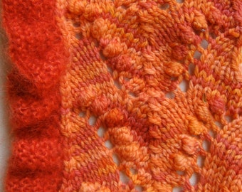 Knit Scarf Pattern:  A Little Ruffled Thing