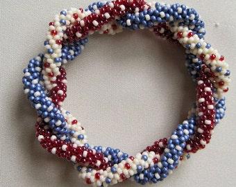 Bead Crochet Pattern:  Triple Strand of Dots Bead Crochet Bangle Pattern