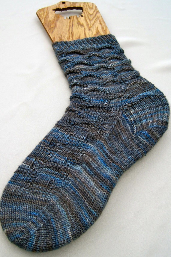 Easy Sock Knitting Pattern : Knitting Sock Pattern: Easy Blue Jean by WearableArtEmporium