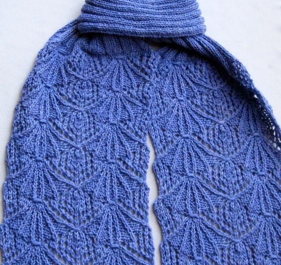 Knit Scarf Pattern:  A Very Lady-Like Scarf Turtleneck Knitting Scarf Pattern