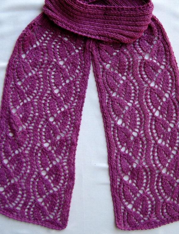 Knit Scarf Pattern: Dayflower Lace Turtleneck Scarf ...