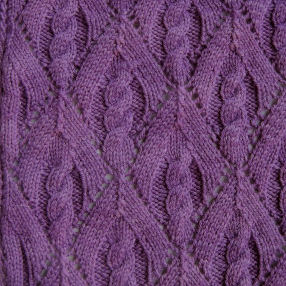 Knit Scarf Pattern:  Winter's Not Quite Over Scarf Knitting Pattern