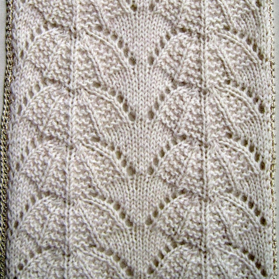Knit Scarf Pattern:  Kasa Scarf with Optional Bead Crochet Edging