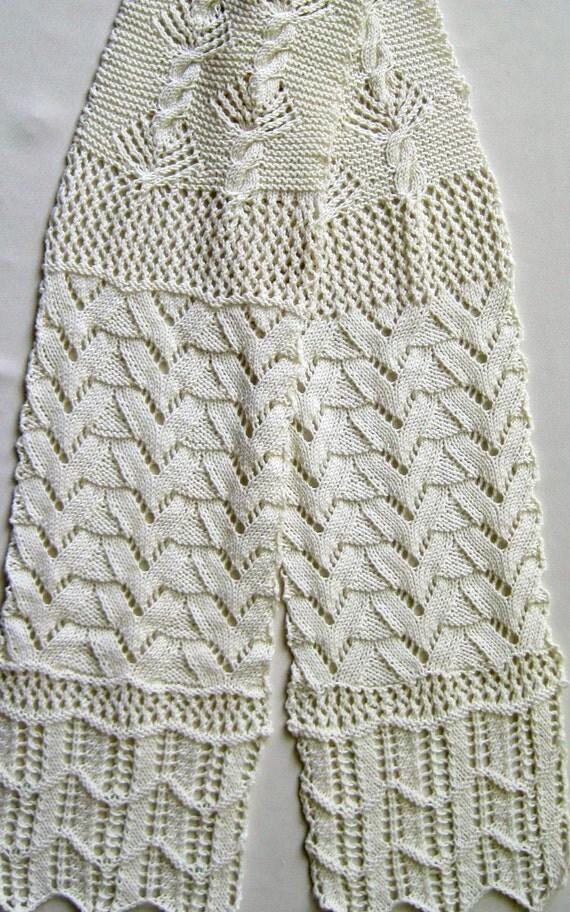 Knit Scarf Pattern:  Lace Sampler Scarf / 2