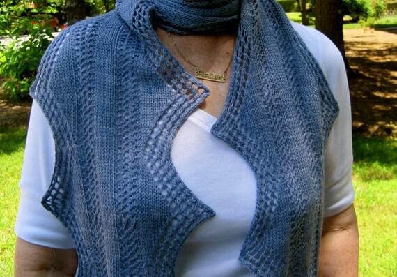 Knit Scarf Pattern:  Twin Edged Scarf Knitting Pattern