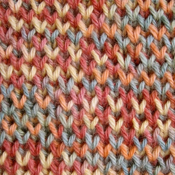 Knit Scarf Pattern:  Single and Double Brioche Stitch Scarf