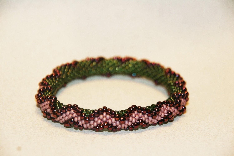 bead crochet bracelet pattern zig zag by by