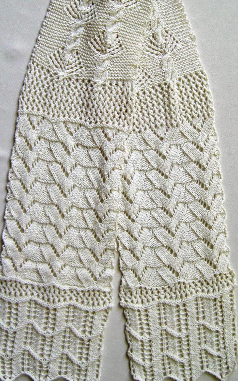 Knit Scarf Pattern Lace Sampler Scarf 2
