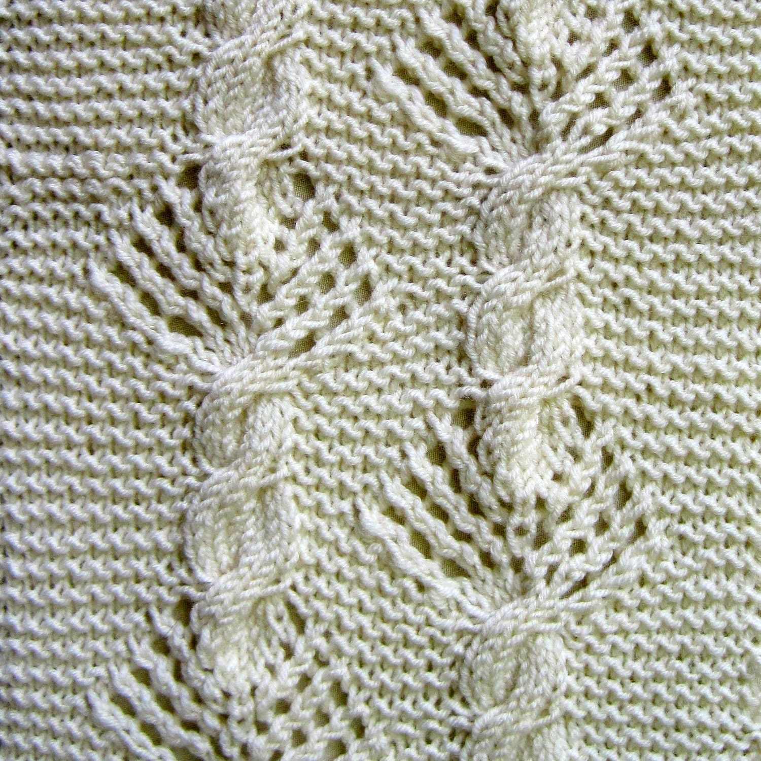 Knitting Pattern For Sampler Scarf : Knit Scarf Pattern: Lace Sampler Scarf / 2